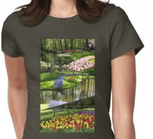 Tulip Time - Keukenhof Collage (Portrait Format) Womens Fitted T-Shirt