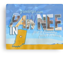 greetings from pawnee, IN Canvas Print