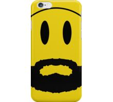 Emoticon with beard. iPhone Case/Skin