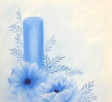 Blue Candle oil painting by paintwithbarb