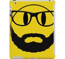 Hipster emoticon with beard and glasses. iPad Case/Skin