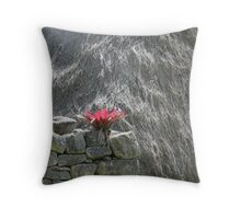 Red in a monochrome world Throw Pillow