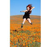 Poppy Field Kung Fu Photographic Print