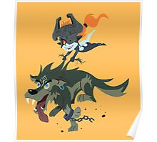 Link and Midna Poster