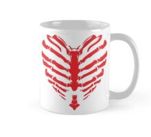 Valentines Ribs Skeleton Heart Mug