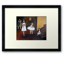Girls in White Dresses Framed Print