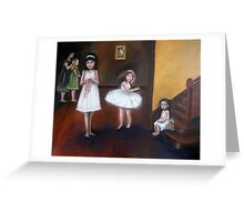 Girls in White Dresses Greeting Card