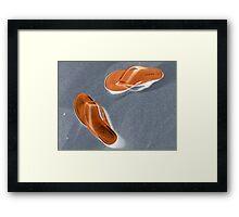 Flip-flop Sandals Framed Print