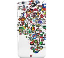 Polandball Countryball World Map - No Border iPhone Case/Skin