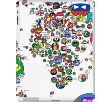 Polandball Countryball World Map - No Border iPad Case/Skin