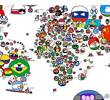 Polandball Countryball World Map - No Border by meme-tees