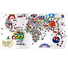 Polandball Countryball World Map - No Border Poster