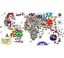 Polandball Countryball World Map - No Border Photographic Print