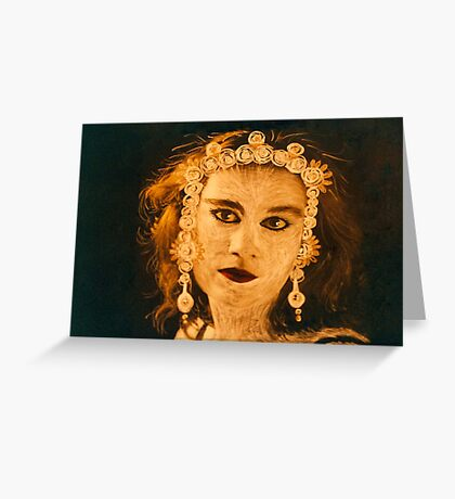 painted face two Greeting Card