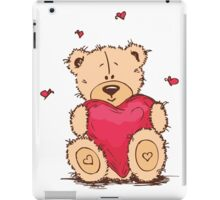 Cute Teddy Bear Valentine iPad Case/Skin