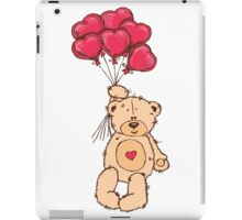 Cute Teddy Bear Valentine With Heart Balloons iPad Case/Skin