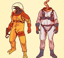 Earthworm Jim & Psycrow by Nathan Anderson