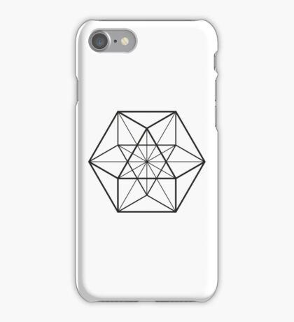 Cube Octahedron White iPhone Case/Skin