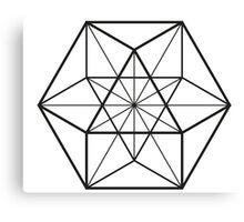 Cube Octahedron White Canvas Print