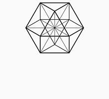 Cube Octahedron White Unisex T-Shirt