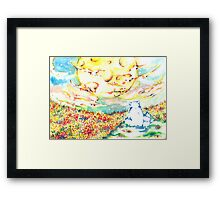 the dream of spring Framed Print