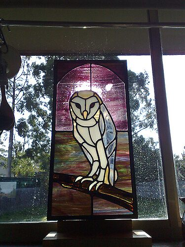 Alba - Owl Leadlight by Silverblue