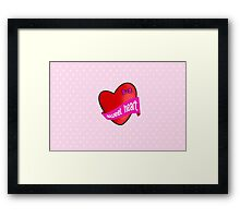 Cute sweet heart Framed Print