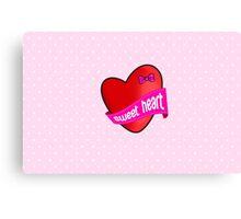 Cute sweet heart Canvas Print