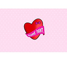 Cute sweet heart Photographic Print