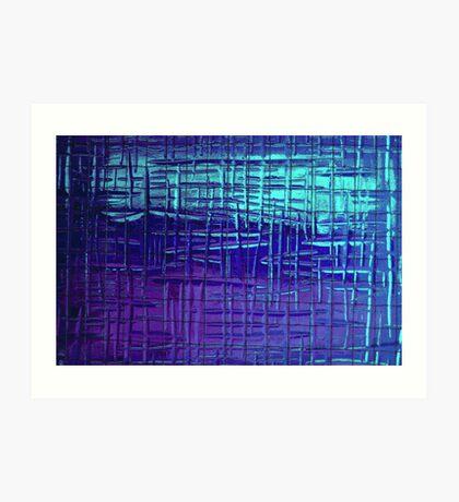 Shower Screen - Blue Art Print
