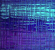 Shower Screen - Blue by Alison Howson