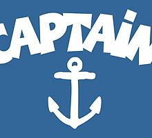 CAPTAiN Anchor White by theshirtshops