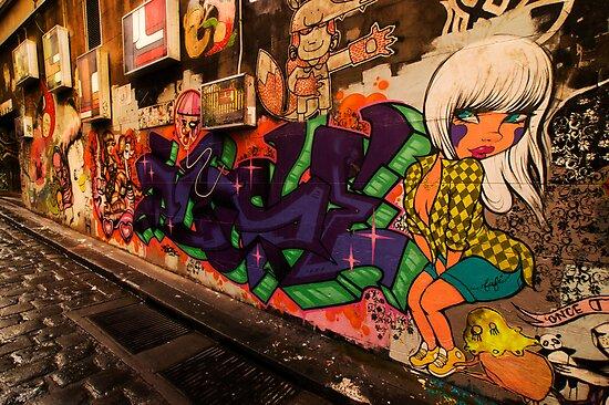 Melbourne Graffiti by daveoh