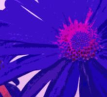 Violet Pink and Purple Painterly Style Flower Art Sticker