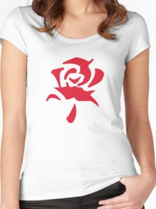 Rose Red Women's Fitted Scoop T-Shirt