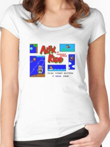 Alex Kidd in Miracle World [title screen] Women's Fitted Scoop T-Shirt