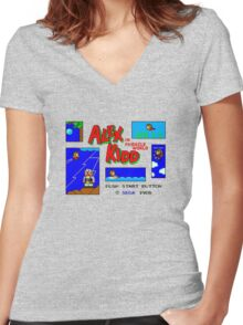 Alex Kidd in Miracle World [title screen] Women's Fitted V-Neck T-Shirt