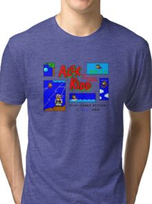 Alex Kidd in Miracle World [title screen] Tri-blend T-Shirt
