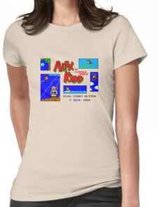 Alex Kidd in Miracle World [title screen] Womens Fitted T-Shirt
