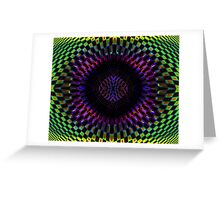 Tumbler No. 27 - Psychedelic Groovy Optical Illusion Geometric Pattern Greeting Card