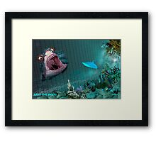 SAVE THE BABY! Framed Print