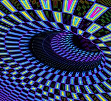 Tumbler No. 28 - Psychedelic Groovy Optical Illusion Geometric Pattern by capartwork
