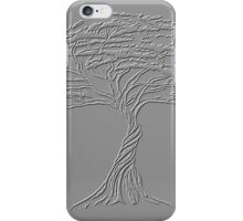 Silver Tree of Life , Zen African Bonsai Grey iPhone Case/Skin