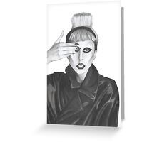lady gaga Greeting Card