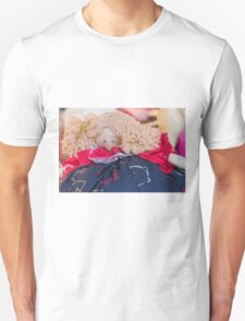 old doll fabric Unisex T-Shirt