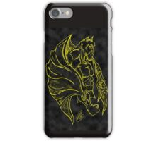 Yellow and Black Gargoyle Drawing iPhone Case/Skin