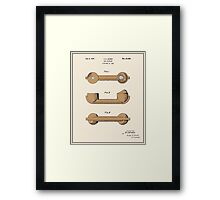 Telephone Handset Patent - Colour Framed Print