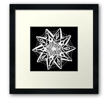 Star Tangles 1 White - An Aussie Tangle  by Heather Holland - See Product Notes for Colour Options Framed Print