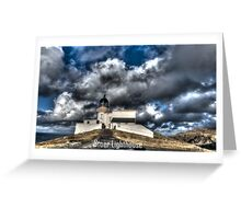 Stoer Lighthouse HDR Greeting Card