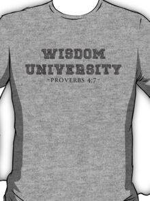 WISDOM UNIVERSITY BLK T-Shirt